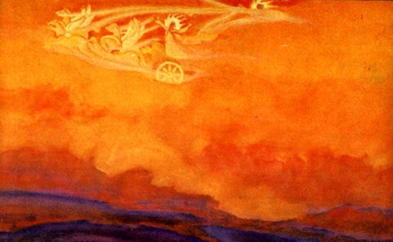 Carruaje de Fuego, Pintura de Nicholas Roerich
